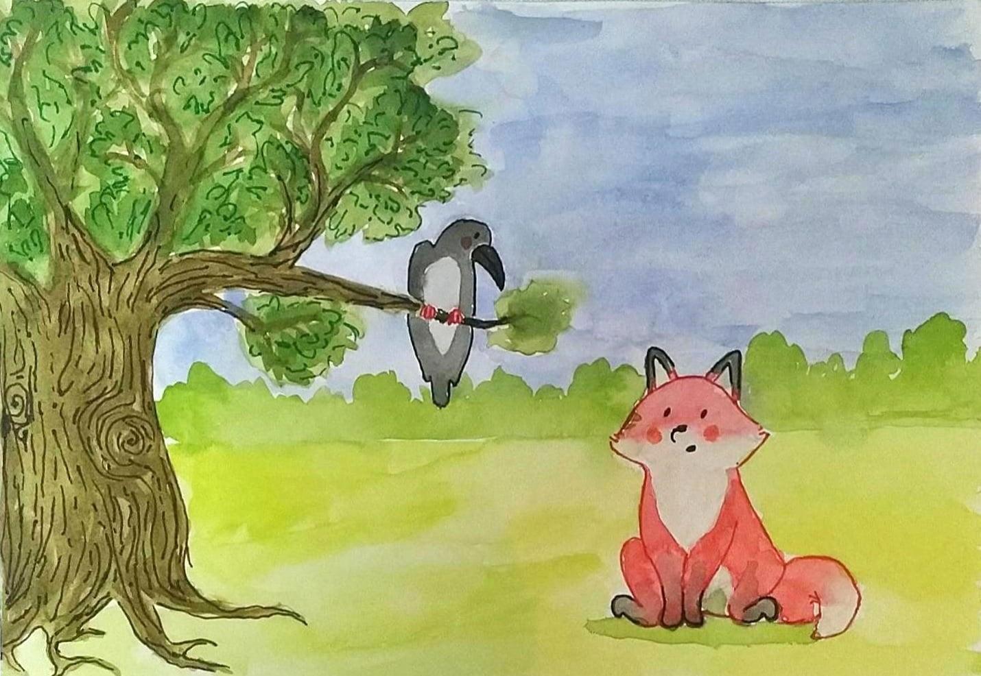 kargayla-tilki-masali